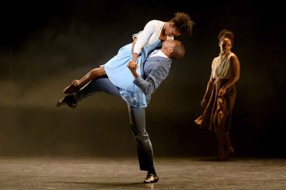 Ballet Black's Cira Robinson and José Alves in The Suit by Cathy Marston. Photography by Camilla Greenwell.}
