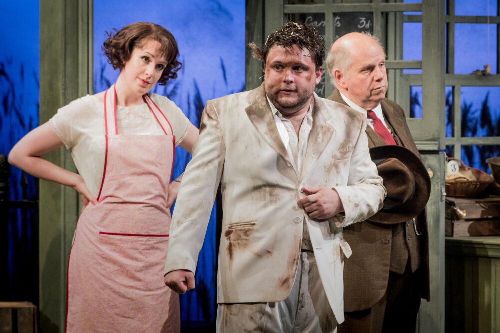 Kitty Whatley - Nancy | Richard Pinkstone - Albert Herring | Adrian Thompson - Mr Upfold | Photo © Robert Workman}