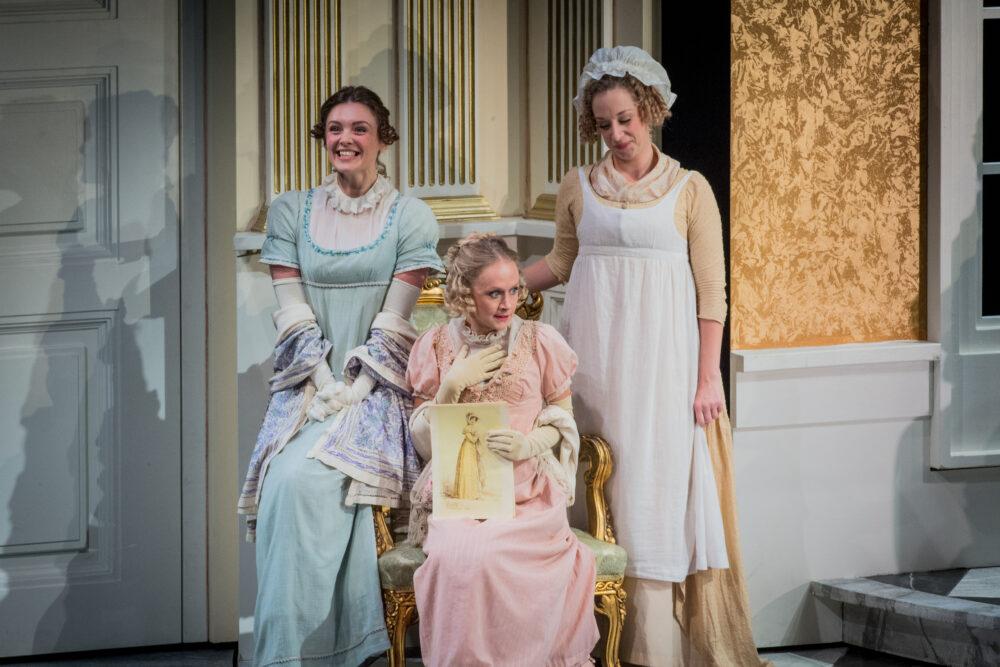 Angharad Lyddon - Julia Bertram  Emily Vine - Maria Bertram   Martha Jones - Fanny Price   Photo © Robert Workman}